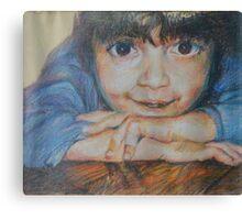 Pensive - A Portrait Of A Boy Canvas Print