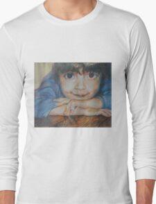 Pensive - A Portrait Of A Boy Long Sleeve T-Shirt