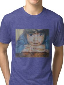 Pensive - A Portrait Of A Boy Tri-blend T-Shirt