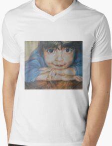 Pensive - A Portrait Of A Boy Mens V-Neck T-Shirt