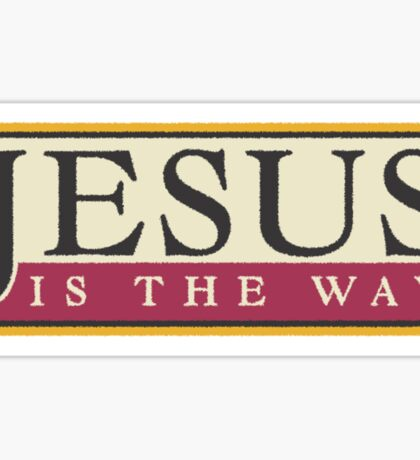 "Christian ""Jesus Is The Way"" Sticker"