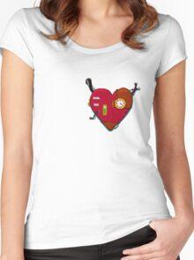 Robot Heart Women's Fitted Scoop T-Shirt