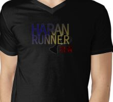 Haran Runner Mens V-Neck T-Shirt