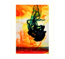 Tri color swirls Art Print