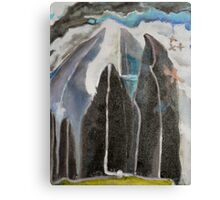 Mountain Trees Outsider Art Canvas Print
