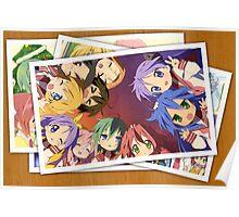 lucky star konata akira kanata anime manga shirt Poster