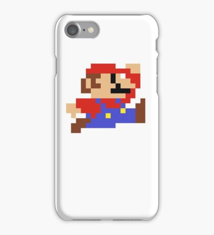 8-Bit Mario Nintendo Jumping iPhone Case/Skin