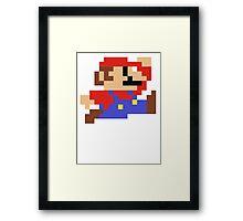 8-Bit Mario Nintendo Jumping Framed Print