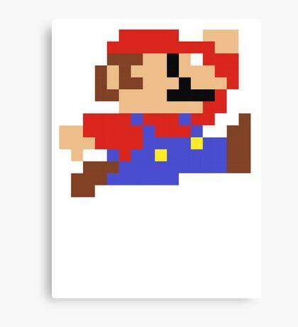 8-Bit Mario Nintendo Jumping Canvas Print