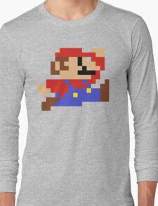 8-Bit Mario Nintendo Jumping Long Sleeve T-Shirt