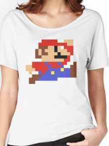 8-Bit Mario Nintendo Jumping Women's Relaxed Fit T-Shirt