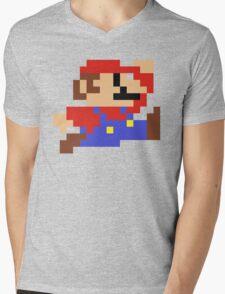 8-Bit Mario Nintendo Jumping Mens V-Neck T-Shirt