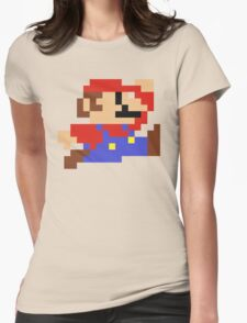 8-Bit Mario Nintendo Jumping Womens Fitted T-Shirt