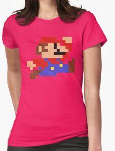 8-Bit Mario Nintendo Jumping Womens Fitted T-Shirt