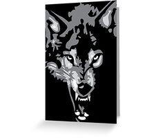Shadow Wolf Greeting Card