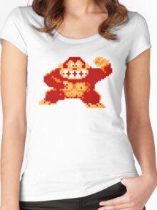 8-Bit Nintendo Donkey Kong Gorilla Women's Fitted Scoop T-Shirt