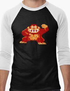 8-Bit Nintendo Donkey Kong Gorilla Men's Baseball ¾ T-Shirt