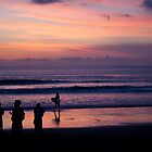 Sunset on Kuta Beach by Jayme Rutherford