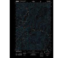 USGS Topo Map Oregon Galice 20110809 TM Inverted Photographic Print