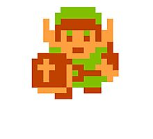 8-Bit Legend Of Zelda Link Nintendo Photographic Print