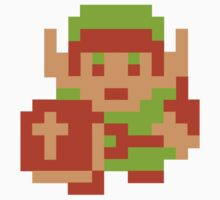 8-Bit Legend Of Zelda Link Nintendo by astropop