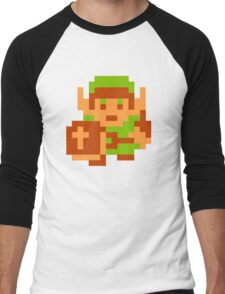 8-Bit Legend Of Zelda Link Nintendo Men's Baseball ¾ T-Shirt