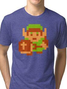 8-Bit Legend Of Zelda Link Nintendo Tri-blend T-Shirt