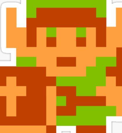 8-Bit Legend Of Zelda Link Nintendo Sticker