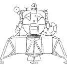 Lunar module sketch by puppaluppa