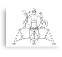 Lunar module sketch Canvas Print