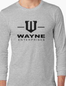 Wayne Enterprises-Black Long Sleeve T-Shirt