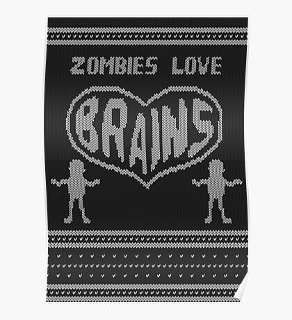Zombie knitwear Poster