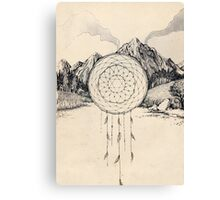 Mountain Star Dreamcatcher Canvas Print