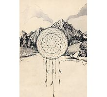 Mountain Star Dreamcatcher Photographic Print