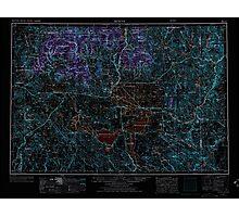 USGS Topo Map Oregon Burns 283306 1955 250000 Inverted Photographic Print