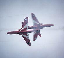Red Arrows Close Pass by Nigel Bangert