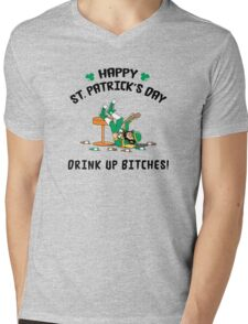St. Patrick's Day Drink Up Bitches Mens V-Neck T-Shirt