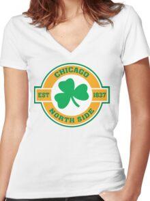 Chicago Northside Irish Women's Fitted V-Neck T-Shirt