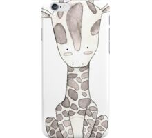 Grey Giraffe and Yellow Butterfly iPhone Case/Skin