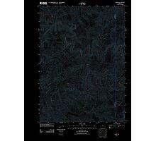 USGS Topo Map Oregon Tioga 20110824 TM Inverted Photographic Print