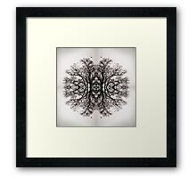 Winter Storm Tree Ink Blot Framed Print