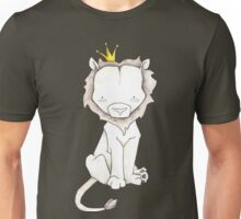Grey Lion and Yellow Crown Unisex T-Shirt