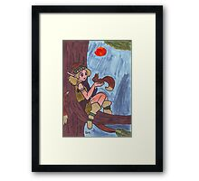 Wood Elf And Squirrel Framed Print