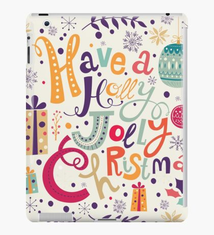 Have A Holy Jolly Christmas Text Design iPad Case/Skin