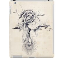 Dreams, Wonders and Beauty - Peacock Dreamcatcher with Roses and Crystals iPad Case/Skin