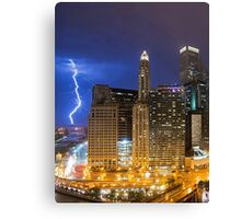 Chicago Lightning  Canvas Print