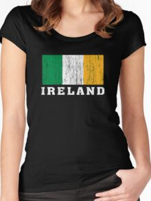 Ireland Flag Women's Fitted Scoop T-Shirt