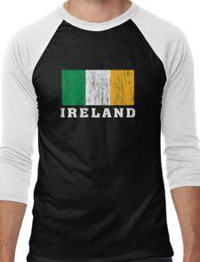 Ireland Flag Men's Baseball ¾ T-Shirt