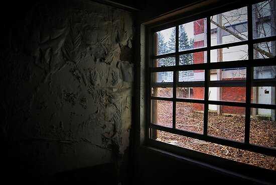 peeling paint and a window by SweetDecay