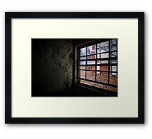 peeling paint and a window Framed Print